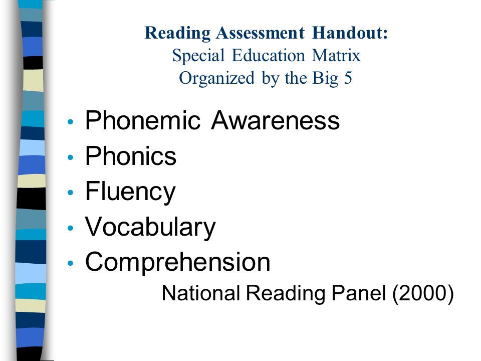 WHAT IS YOUR QUESTION.Why are you assessing. What component of Reading are you assessing.