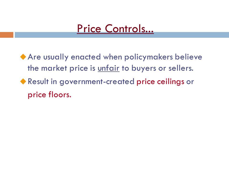 Price Controls...