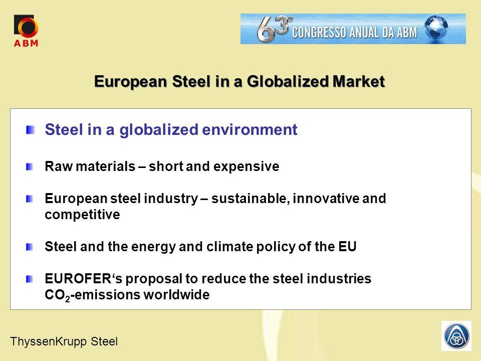 ThyssenKrupp Steel Stahl-Zentrum11.07.2008 Indicators of Sustainable Steel