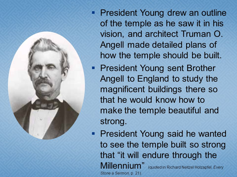 In February 1853, five and a half years after the first Saints entered the Salt Lake Valley, Brigham Young and other brethren held a groundbreaking ceremony to begin construction of the Salt Lake Temple.