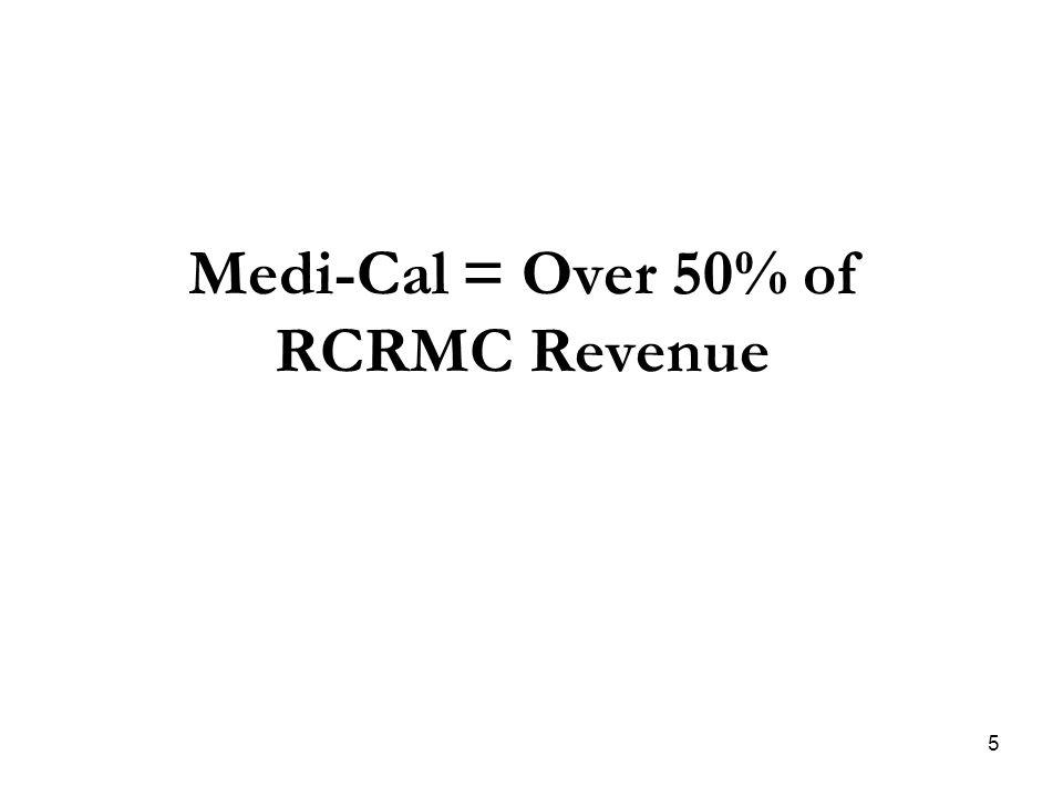 Medi-Cal = Over 50% of RCRMC Revenue 5