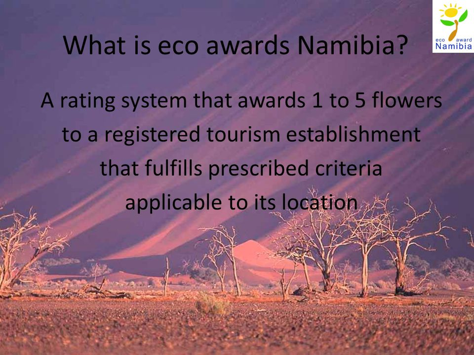 What is eco awards Namibia.