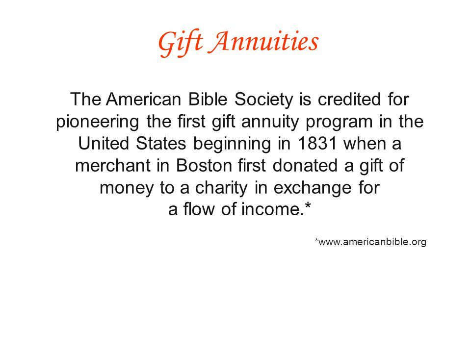 Manage gift annuities in house.