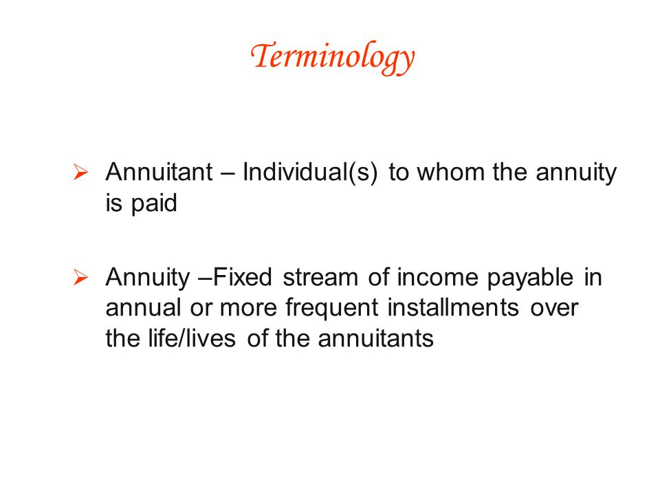 The annuity payments are not considered income, for a portion of the payments are considered to be a partial tax-free return of the donors gift Charitable Gift Annuities