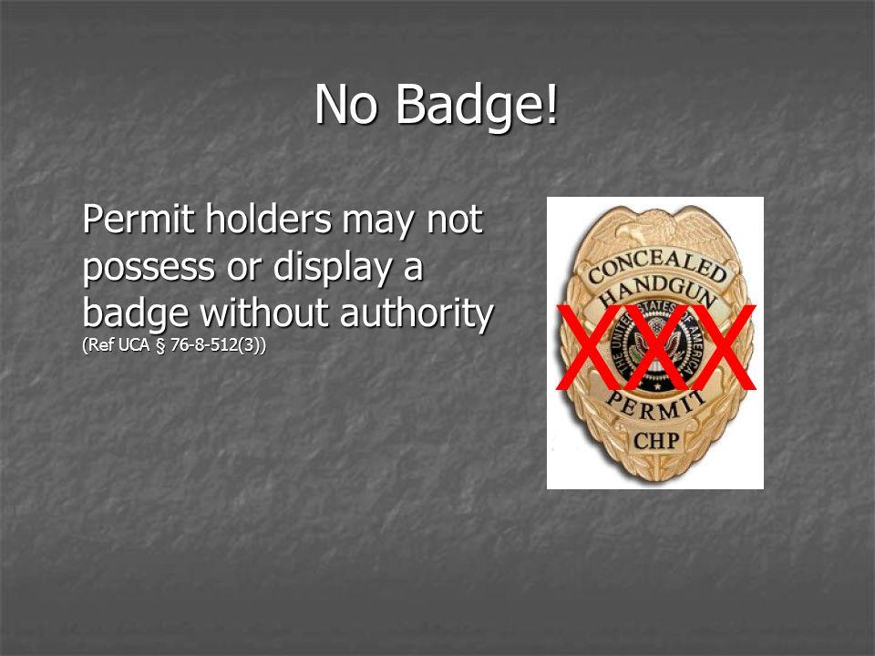 No Badge.