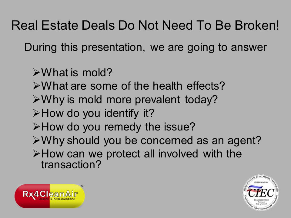 Real Estate Deals Do Not Need To Be Broken.