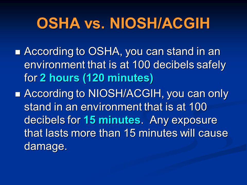 OSHA vs.