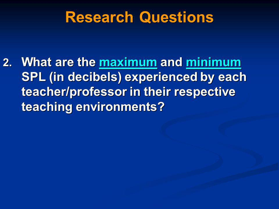 Research Questions 2.