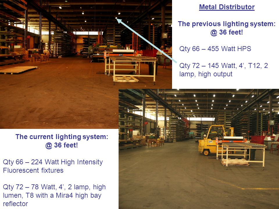 Metal Distributor The previous lighting 36 feet.