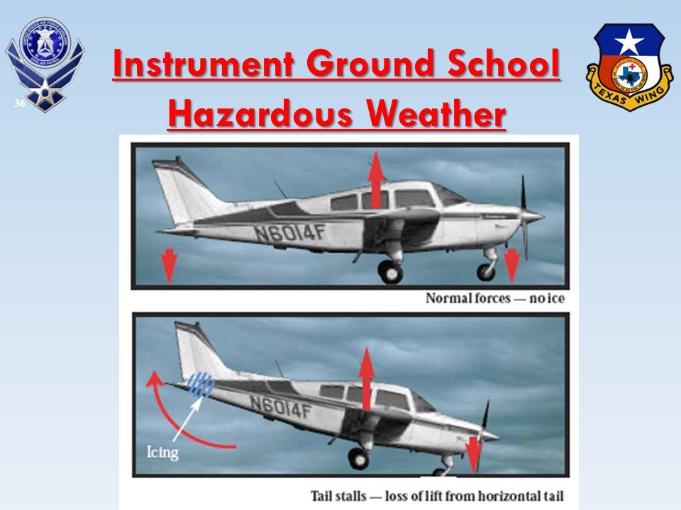 36 Instrument Ground School Hazardous Weather