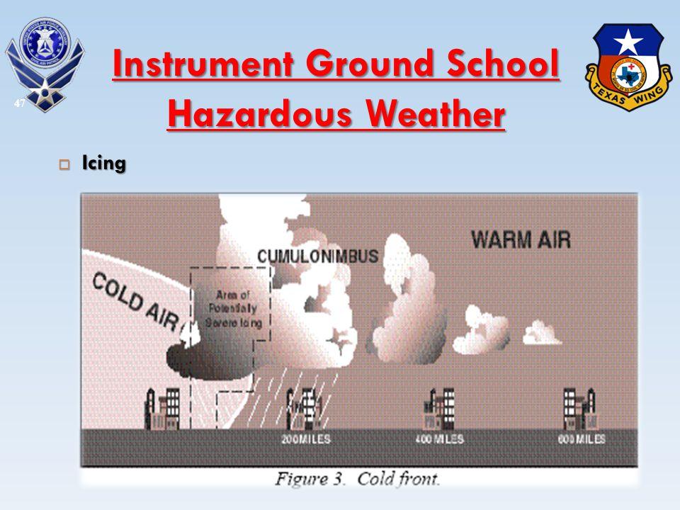 Icing Icing 47 Instrument Ground School Hazardous Weather