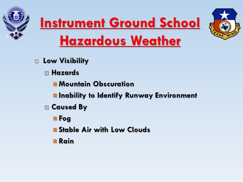 Icing Icing 46 Instrument Ground School Hazardous Weather