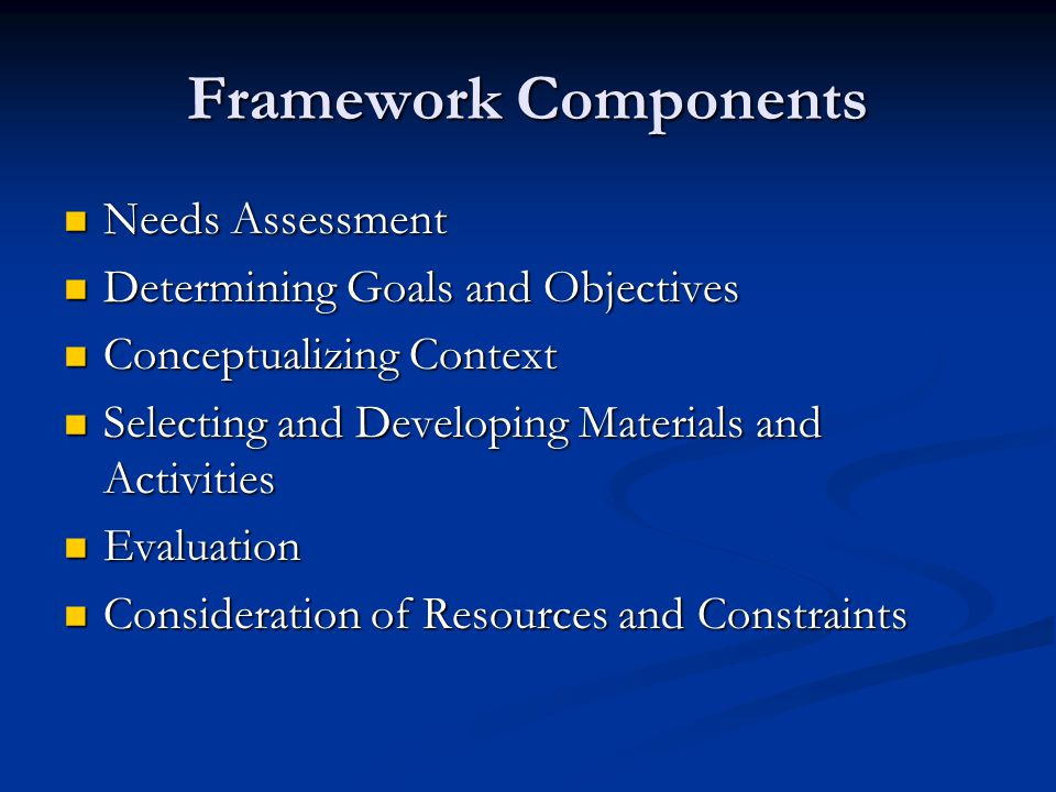 Selecting and developing materials and activities Organization of content and activities- two principles are building and recycling.