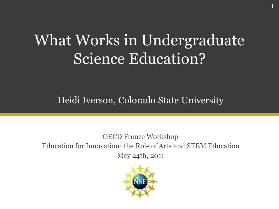 What Works in Undergraduate Science Education.