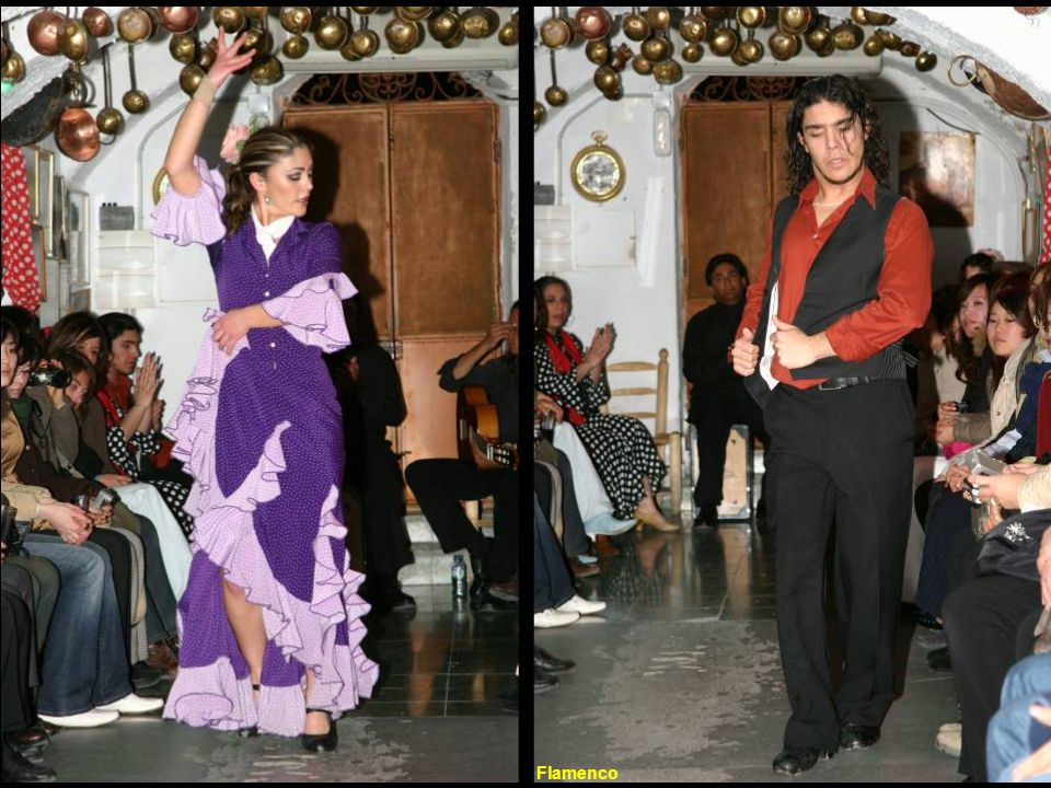 Flamenco is a combination of dance, guitar, and a unique characteristic form of singing. - It developed as a mix of Gypsy, Jewish, and Islamic element