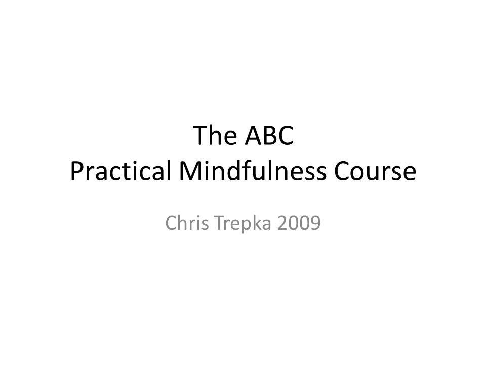 The ABC Practical Mindfulness Course Chris Trepka 2009