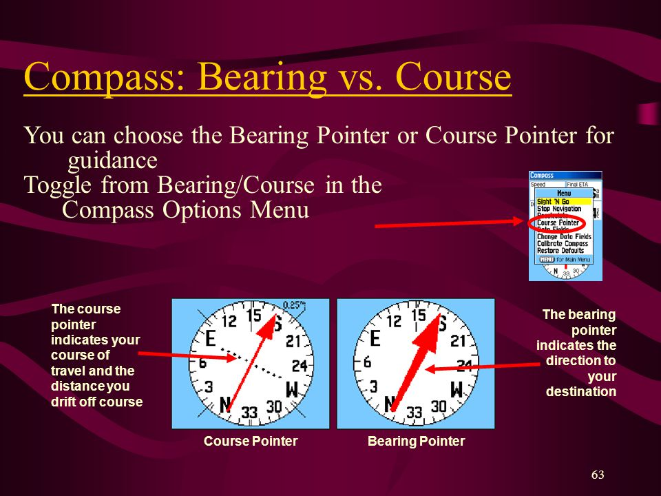 63 Compass: Bearing vs.