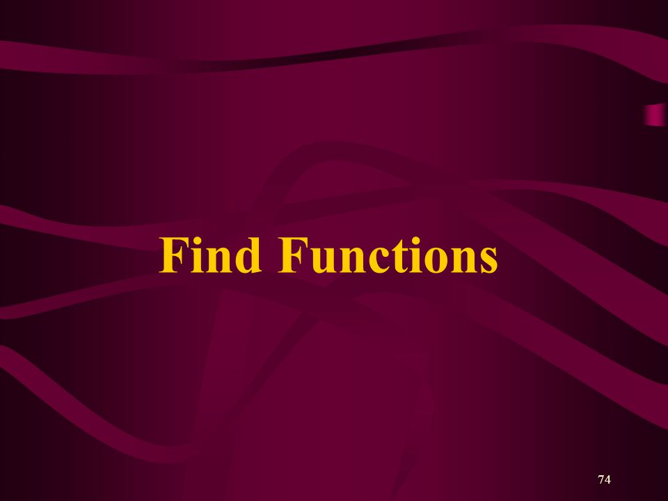 74 Find Functions