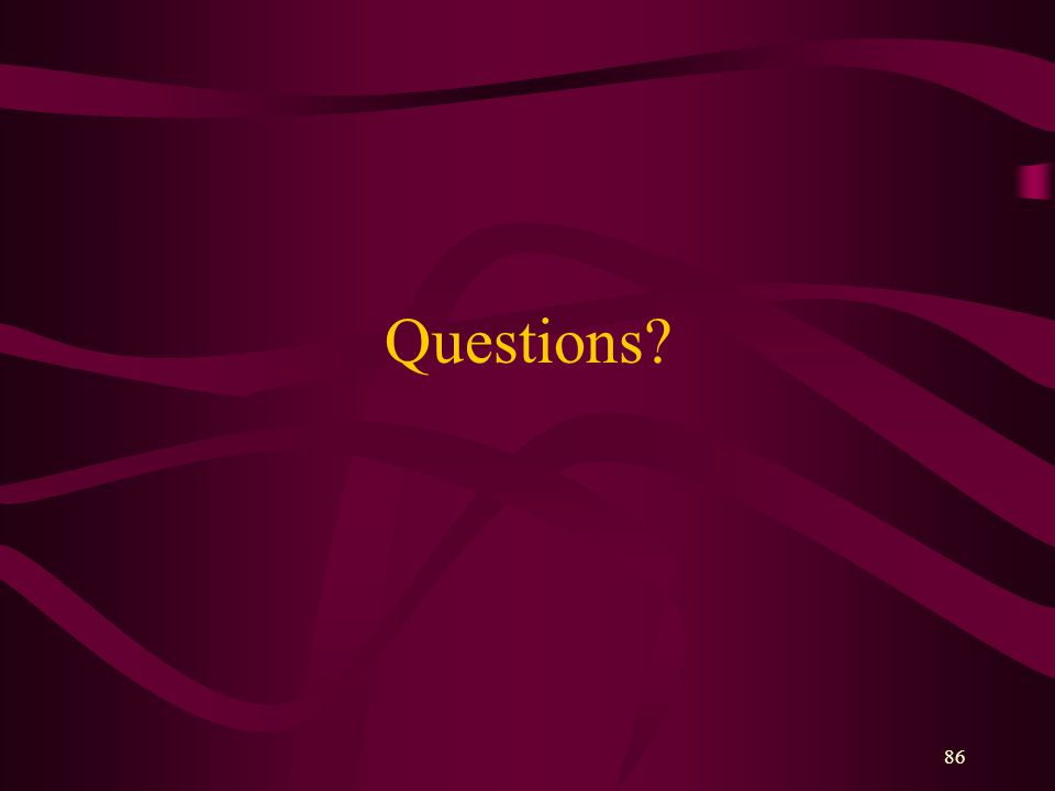 86 Questions