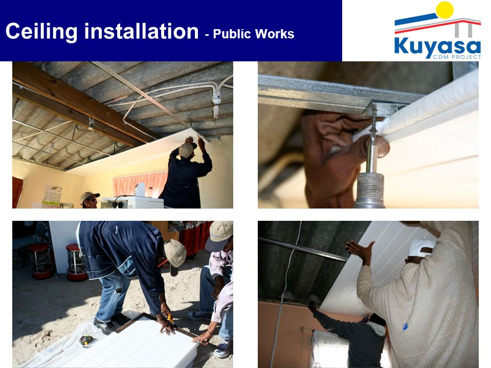 9 Ceiling installation - Public Works
