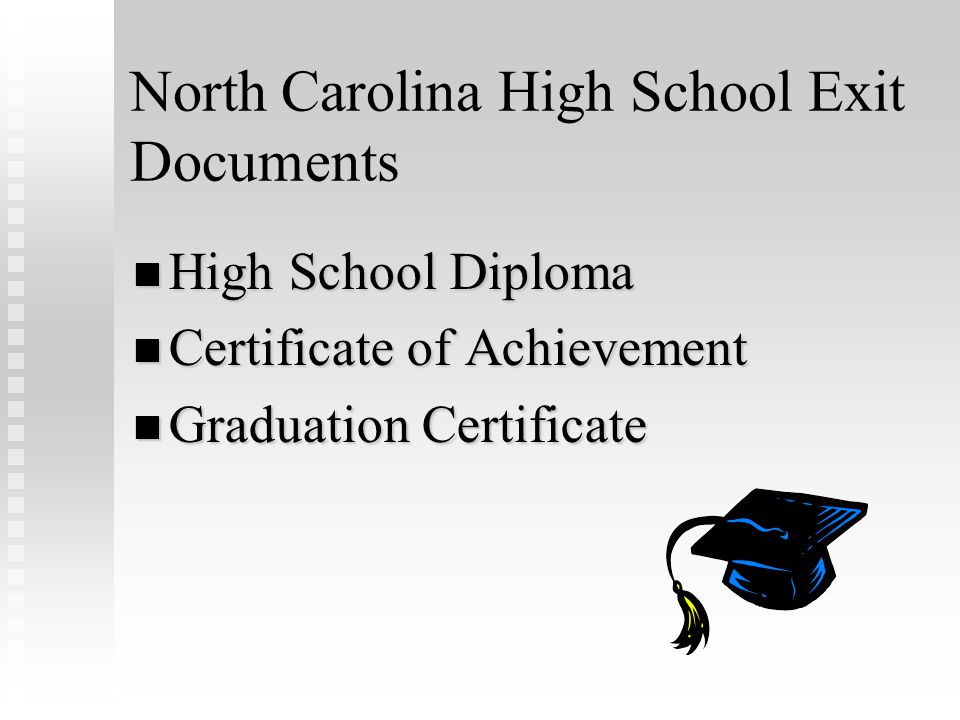 Pathways to a North Carolina High Diploma Career Course of Study College Tech Prep Course of Study College/University Prep Course of Study Occupationa
