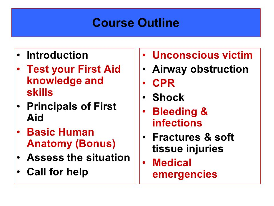 Medical emergencies Do you know First Aid for Asthma ? Diabetes ? Seizures ?