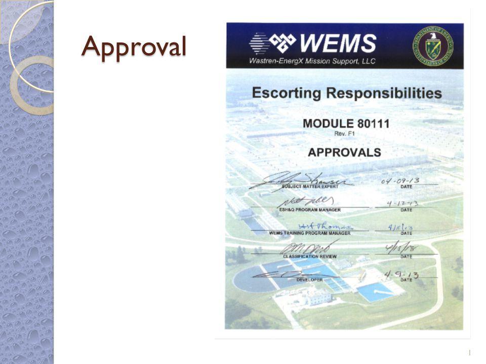 Escorting Responsibilities Module 80111 Rev. F1 2