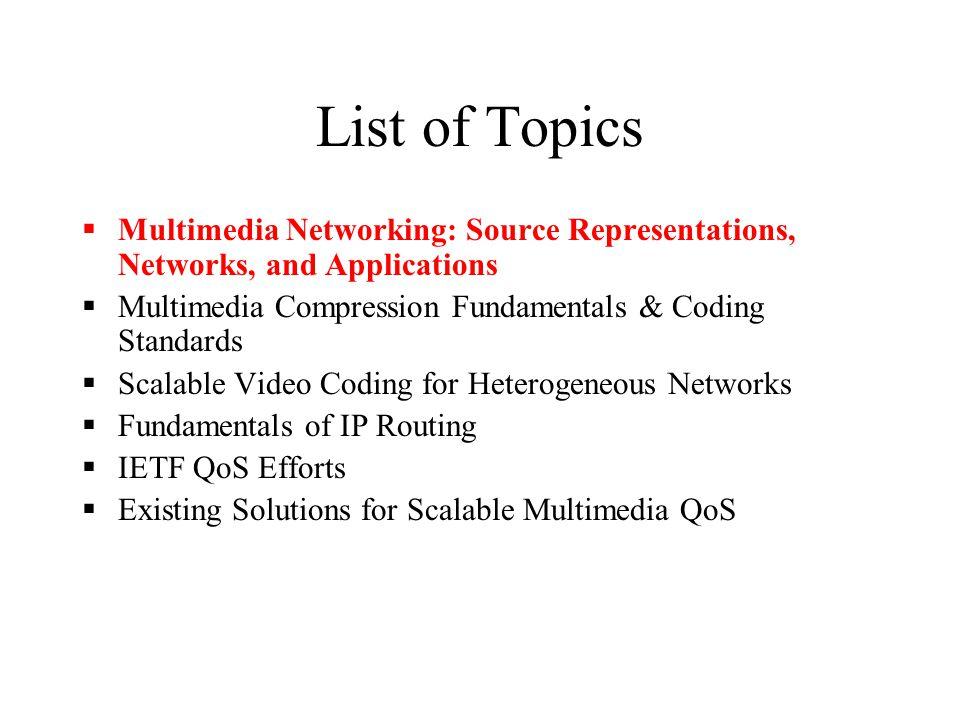 CMSC691C Multimedia Networking A Course Overview Padma Mundur CSEE, UMBC pmundur@csee.umbc.edu