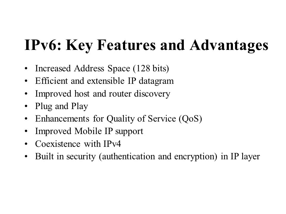 What IPv6 can Offer.