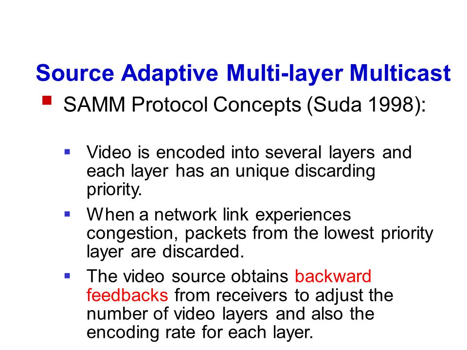 RLM Characteristics A fixed number of multicast groups.