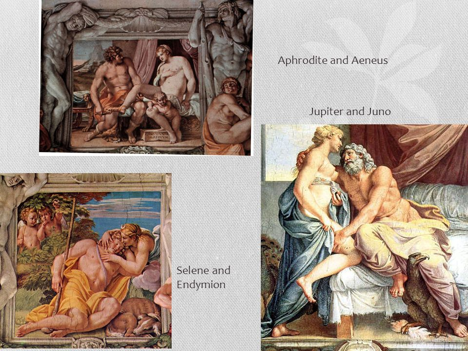 Jupiter and Juno Selene and Endymion Aphrodite and Aeneus