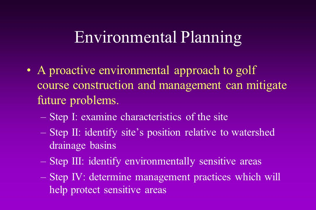 Critical Area Plantings Planting of vegetation on eroding or highly erodible areas Very important during course construction or earth-moving renovation projects May include the use of sod –e.g.