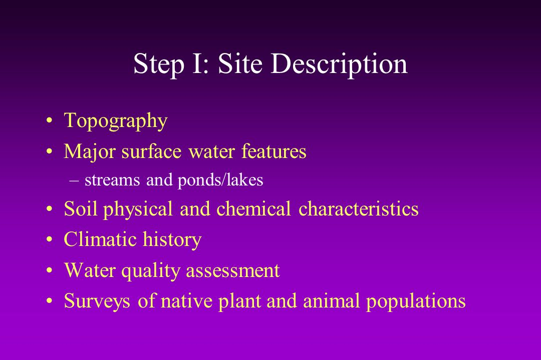 Step II: Watershed Drainage Basins Mapping the routes and locations of all watershed drainage basins allows: –determination of the effects of golf holes where surface and subsurface drainage are installed –determination of turfgrass acreage within each drainage basin