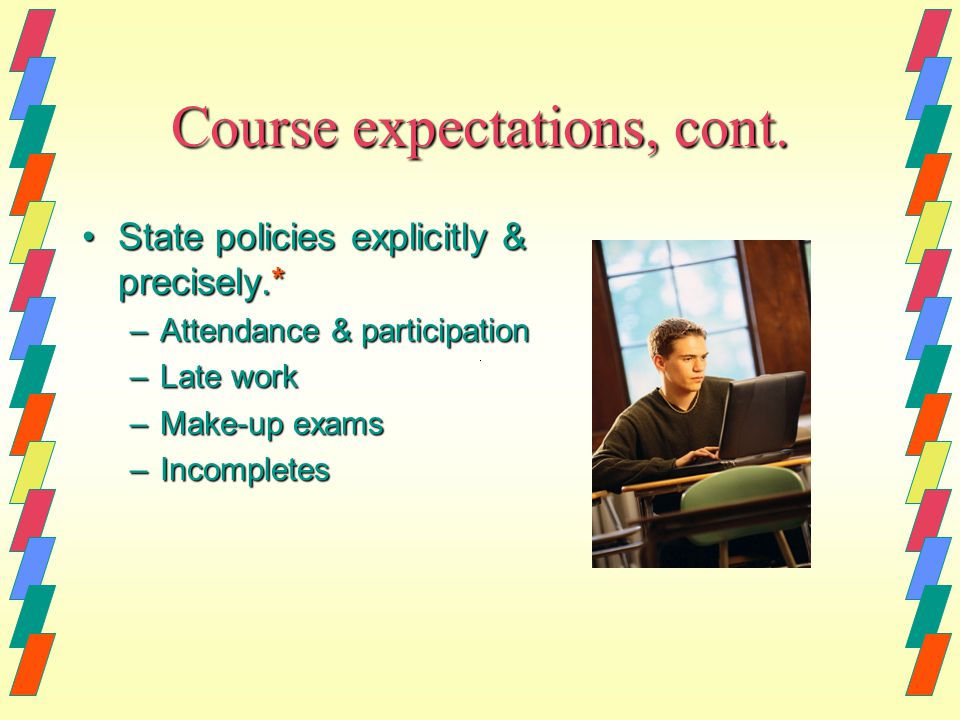 Course expectations, cont.