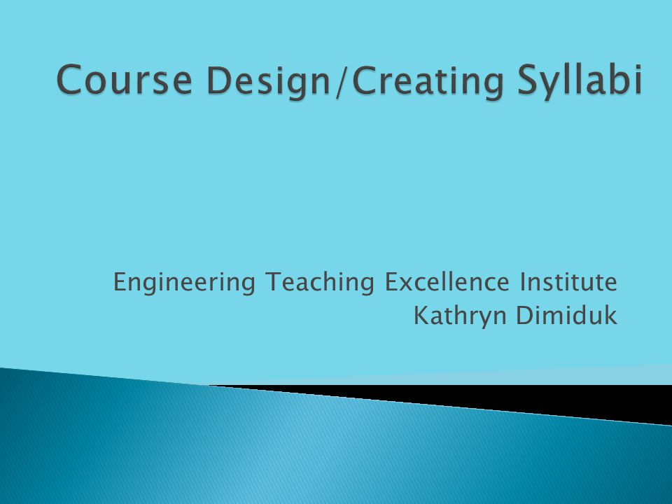Engineering Teaching Excellence Institute Kathryn Dimiduk