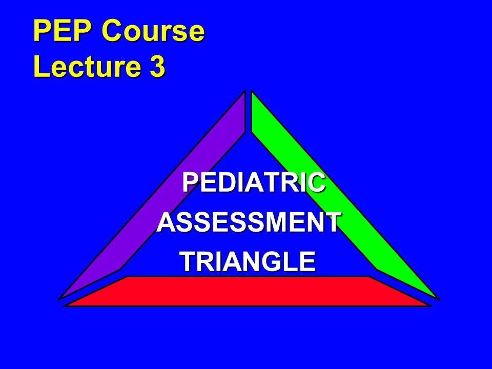 PEP Course Lecture 3 PEDIATRIC PEDIATRICASSESSMENT TRIANGLE TRIANGLE