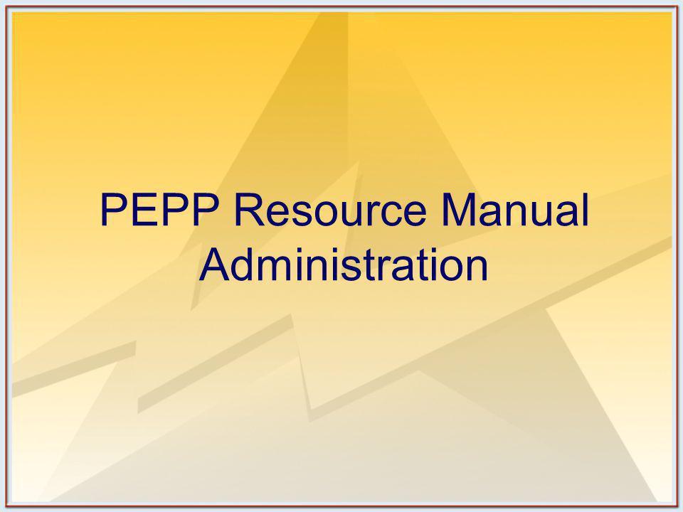 PEPP Video Available on DVD Four-segments Segment 1: Pediatric Assessment Triangle (BLS and ALS) Segment 2: Airway Procedures (BLS) Segment 3: Airway Procedures (ALS) Segment 4: Spinal Stabilization (BLS and ALS) Segment 5: Vascular Access (ALS)
