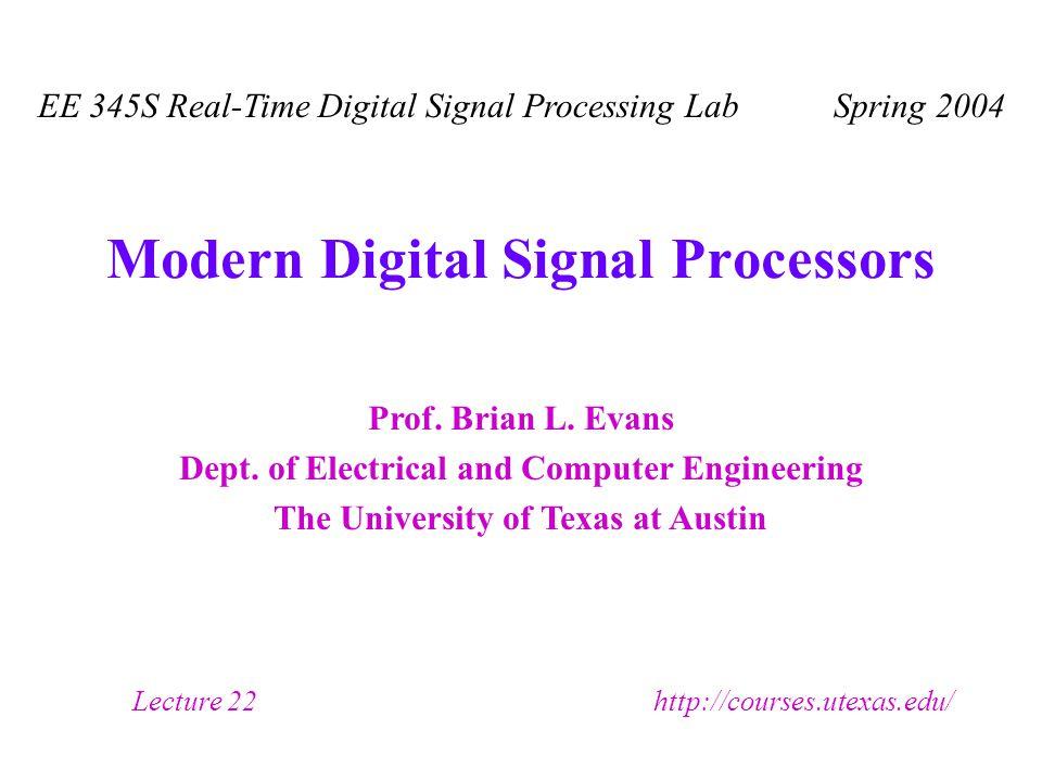 Prof. Brian L. Evans Dept.