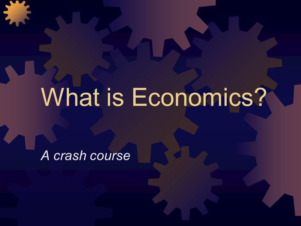 What is Economics? A crash course