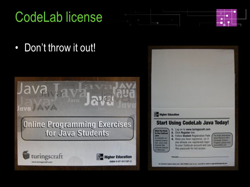 CodeLab license Dont throw it out!