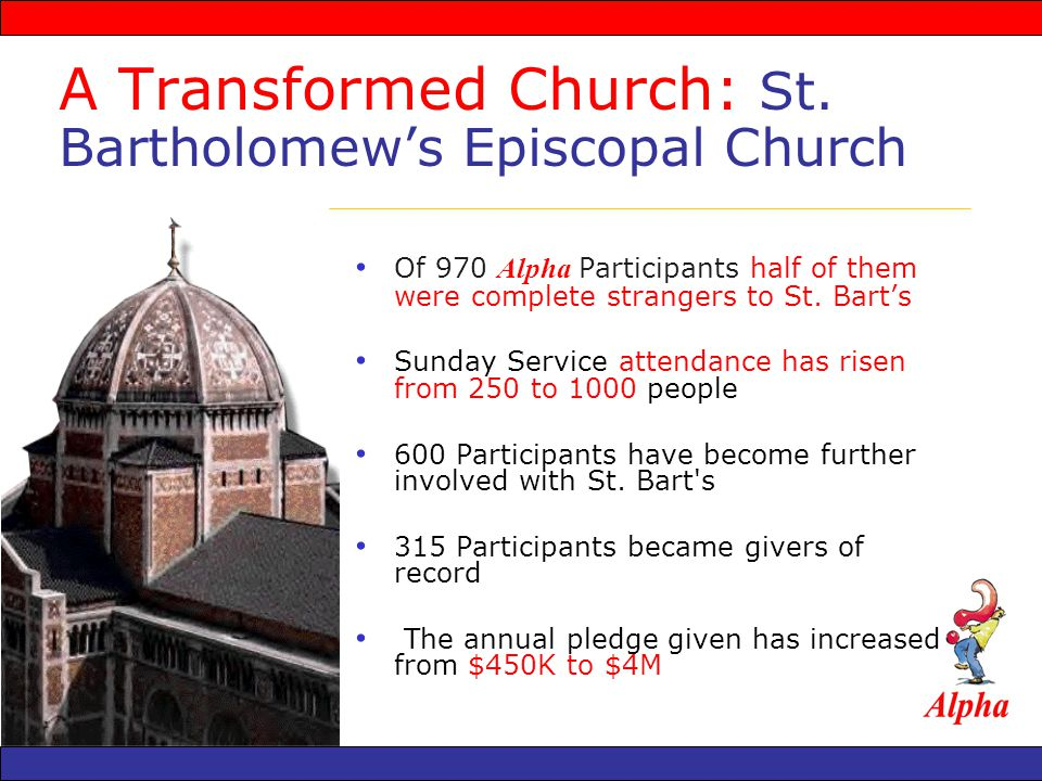 A Transformed Church: St.