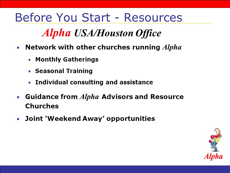 The Alpha Directors Handbook is a step-by-step guide to running the Alpha course.