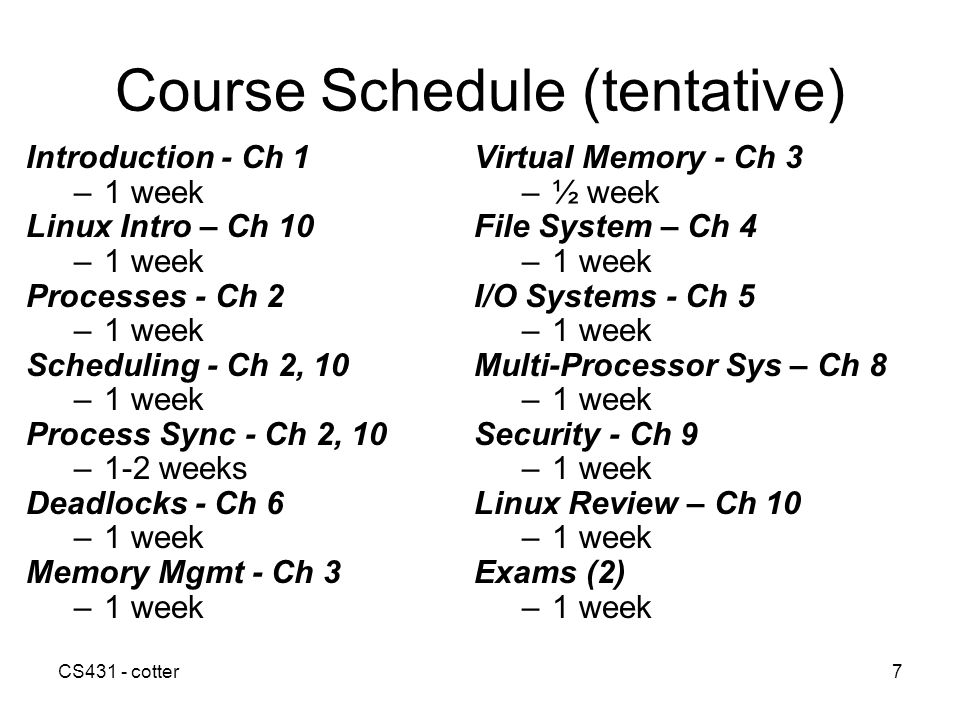 CS431 - cotter28 Summary Operating Systems evolved to: –Make computers easier to use –Improve the utilization of computing resources Design and function of OS has evolved as the cost of resources goes down OS is generally the most complex program running in a computing system.