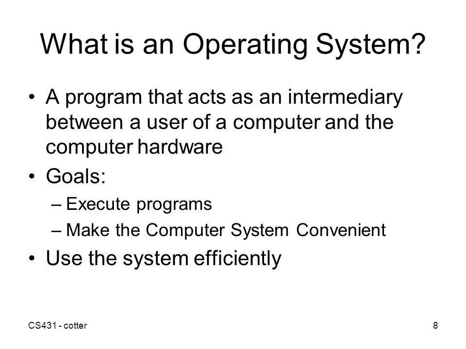 CS431 - cotter19 Multiprogramming Batched Systems Operating System Job 1 Job 2 Job 3 Job 4
