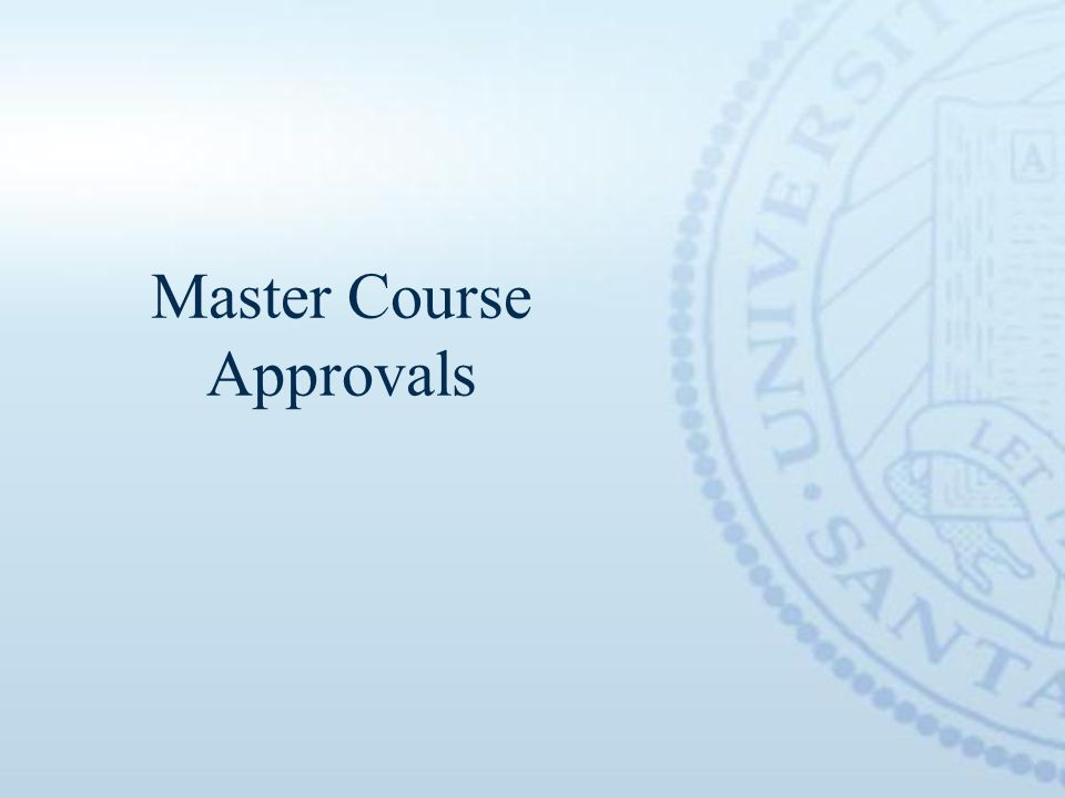 Master Course Approvals