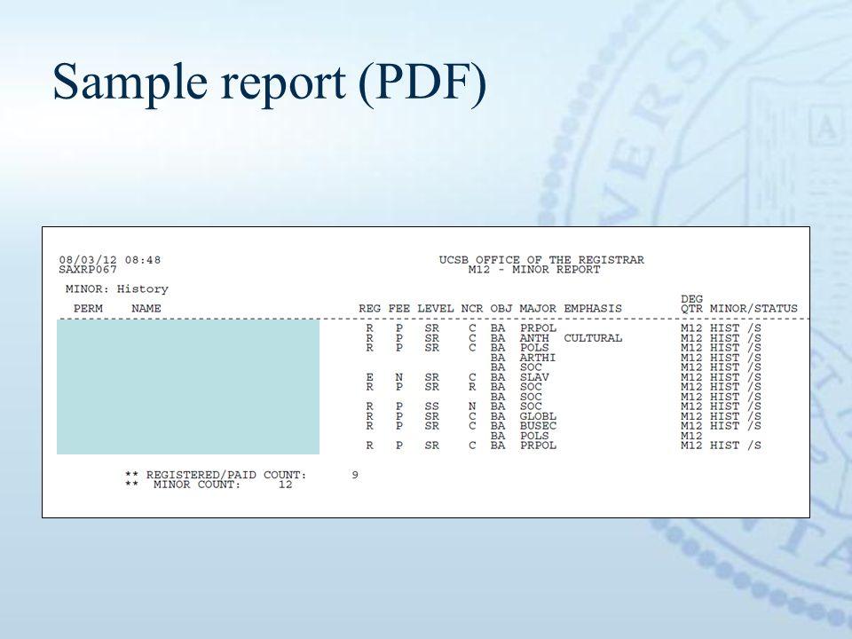 Sample report (PDF)