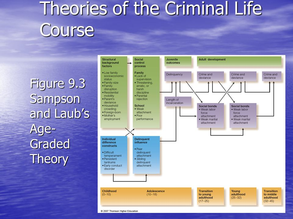Figure 9.3 Sampson and Laubs Age- Graded Theory Theories of the Criminal Life Course