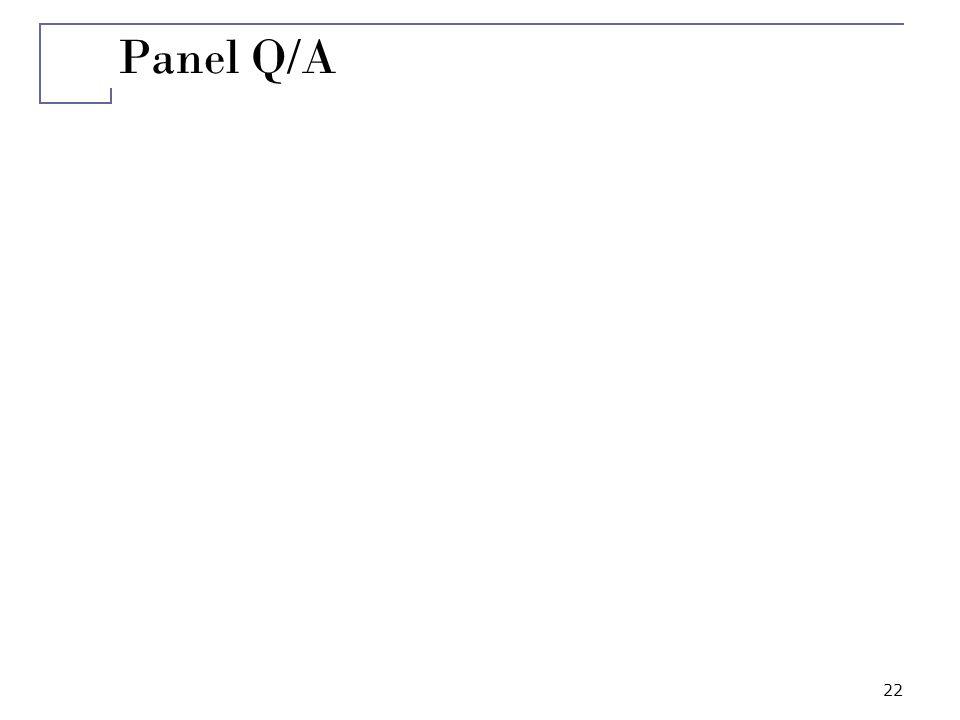 22 Panel Q/A