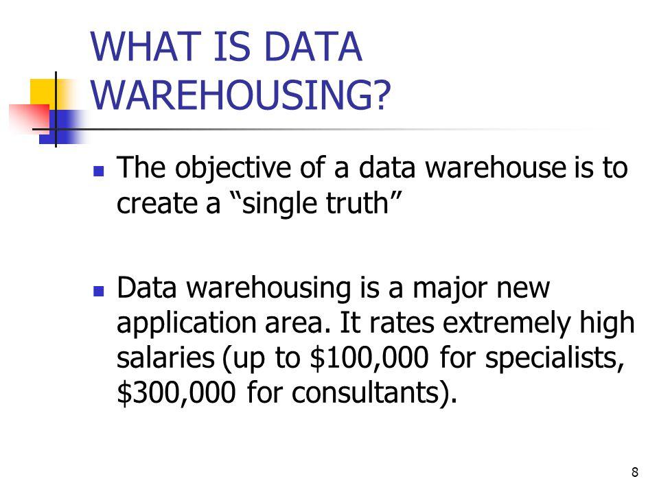 8 WHAT IS DATA WAREHOUSING.