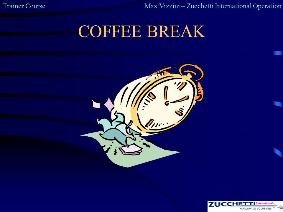 Trainer CourseMax Vizzini – Zucchetti International Operation COFFEE BREAK